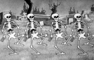 Skeleton from Walt Disney's 'The Skeleton Dance'